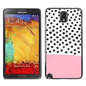 X-ray Impreso colorido protector duro espalda Funda piel de Shell para SAMSUNG Galaxy Note 3 III / N9000 / N9005 - Pink Pattern Hand Drawn