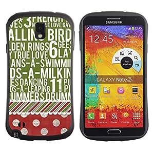"Hypernova Slim Fit Dual Barniz Protector Caso Case Funda Para Samsung Note 3 [Dot texto modelo rojo del verde del vintage""]"
