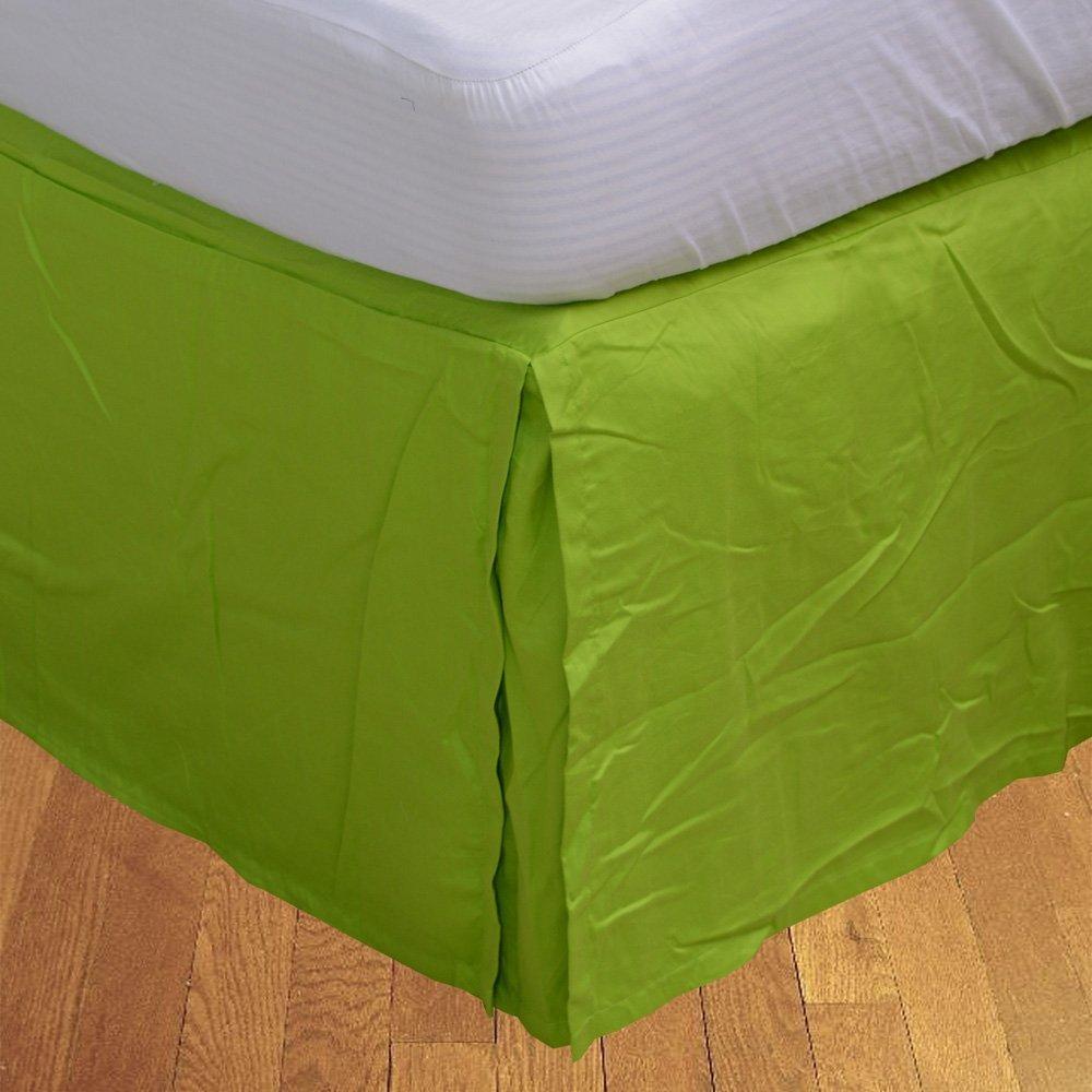 LaxLinenスーパー品質100 %エジプト綿1pcベッドスカート15インチExtra Deepポケット California King グリーン B01NH0Y0MV パロットグリーン California King
