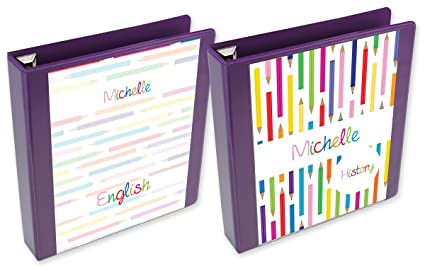 amazon com color pencils binder insert set custom binder inserts