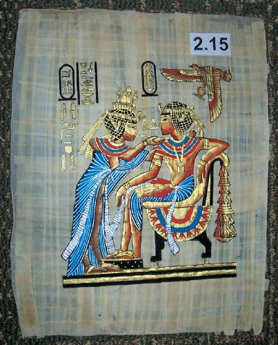 (Egyptian Papyrus Painting *The Throne of king Tutankhamen * ep.A-2.15)