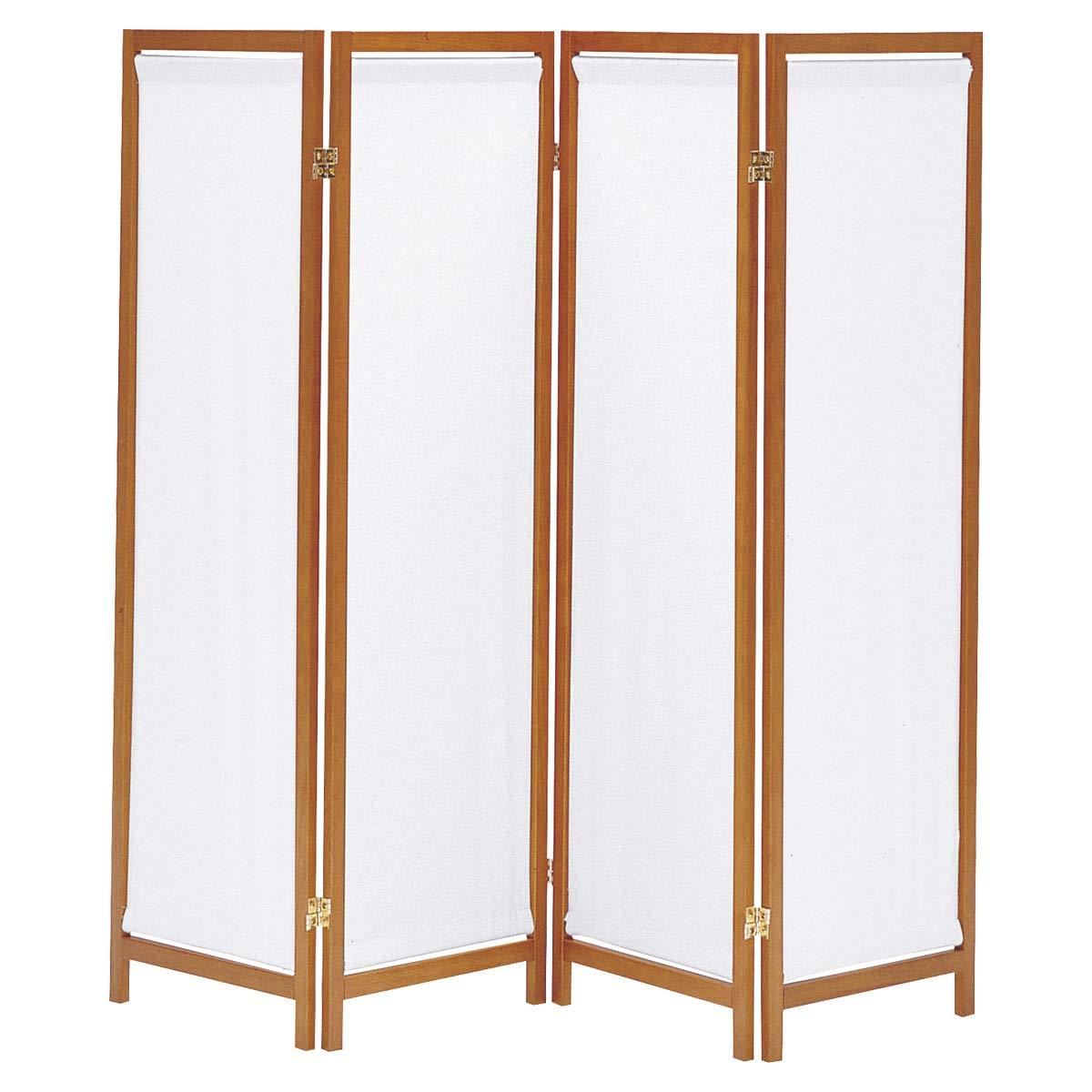 CtoC JAPAN Select パーテーション ブラウン 幅44cm×奥行2cm×高さH150cm×4枚 B07KW3JW3P