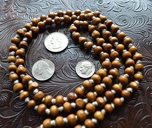 Awaken Your Kundalini Tulsi Holy Basil Prayer Beads, 8mm, 108 Beads