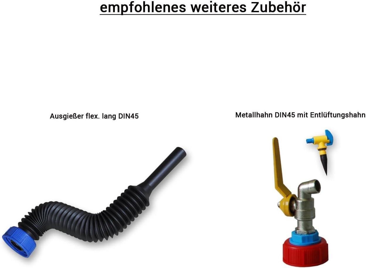 DIN 45 Ausgie/ßer flexibel Wilai 3 Liter Kanister mit Hahn