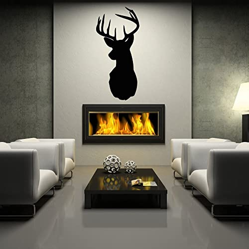 Amazon.com: Deer Head Mount Wall Decal- buc whitetail Dining ...