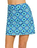 Ekouaer Golf Skorts for Women Breathable Comfy Mini Anytime Tennis Skirt with Short S-XXL