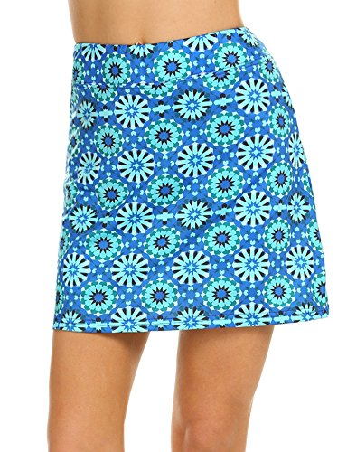 Ekouaer Golf Skorts for Women Breathable Comfy Mini Anytime Tennis Skirt with Short S-XXL (Apparel)