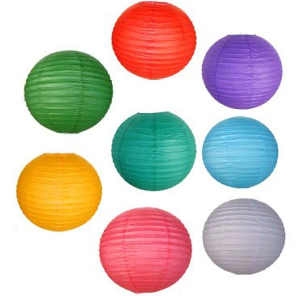 JustアーティファクトAssorted Paper Lanterns (異なるカラー&サイズ提灯) 14inch AMZ-RPL8-14ASSORTED B01EGVBOYE 14inch|アソート アソート 14inch