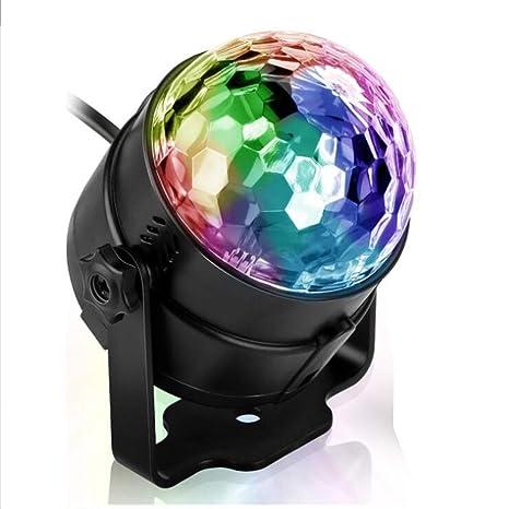 Efectos de luz de la bola de discoteca Luz parcial RGB Lámpara de ...