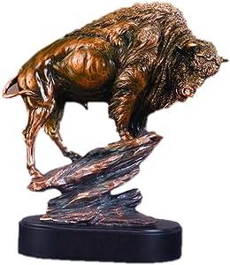 Buffalo Large Statue Bronze Finish