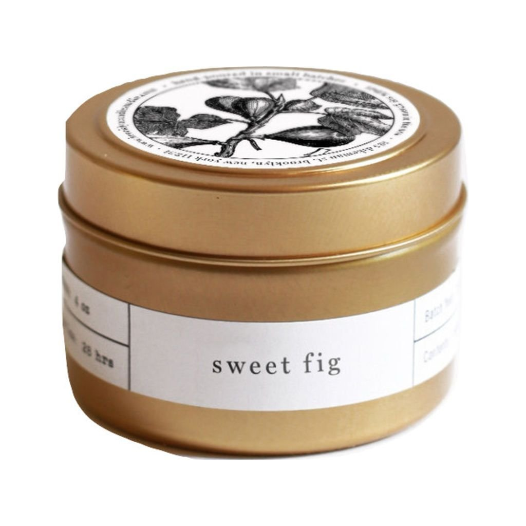 Brooklyn Candle Studio Gold Travel Candle   Sweet Fig