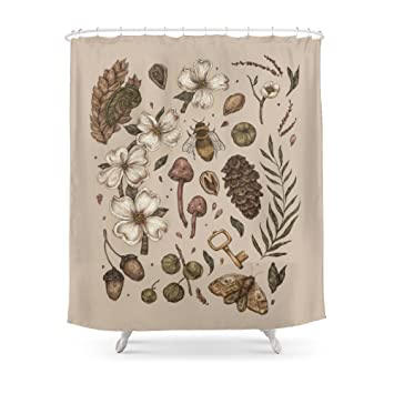 Society6 Nature Walks Light Background Shower Curtain 71quot