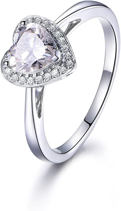 1Ct Round Brilliant Cut Ring Three Stone Ring Near Colorless Moissanite Ring For Wedding Halo Engagement Ring 10Kt14Kt18Kt Yellow Gold