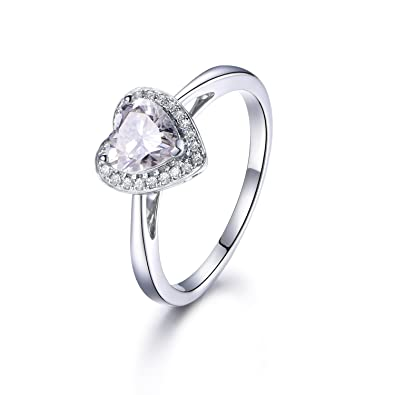 1ct Heart Shaped Brilliant Moissanite Engagement Ring, Solid 14K ...