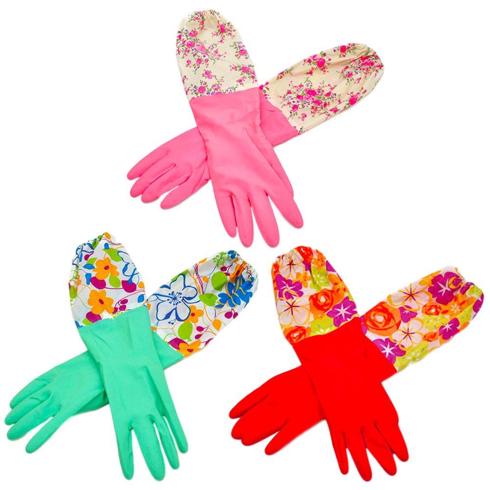 洗い物の時にはゴム手袋で手肌と爪の乾燥予防!
