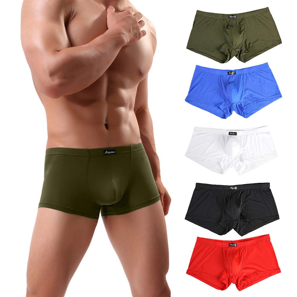 Toaimy Boxer Brief, Men Arigreben Sexy Underwear Letter Printed Shorts Bulge Pouch Underpants