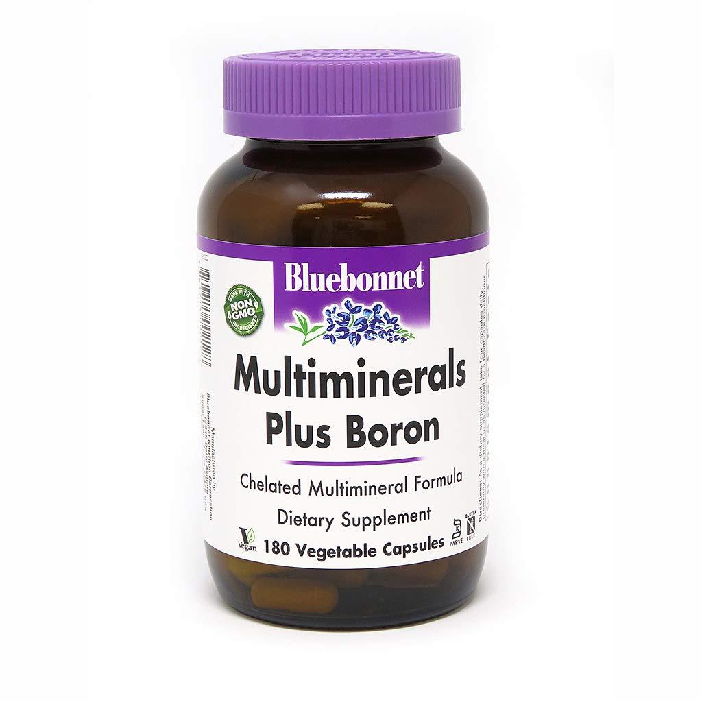 BlueBonnet Multi Minerals Plus Boron Vegetarian Capsules, 180 Count