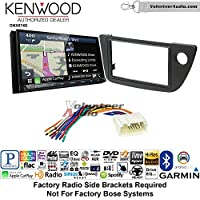 Volunteer Audio Kenwood DNX874S Double Din Radio Install Kit with GPS Navigation Apple CarPlay Android Auto Fits 2002-2006 Acura RSX