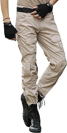 Bwbike Pantalones Tacticos Militares Para Hombres Con Rodilleras Pantalones De Trabajo De Combate Amazon Es Deportes Y Aire Libre