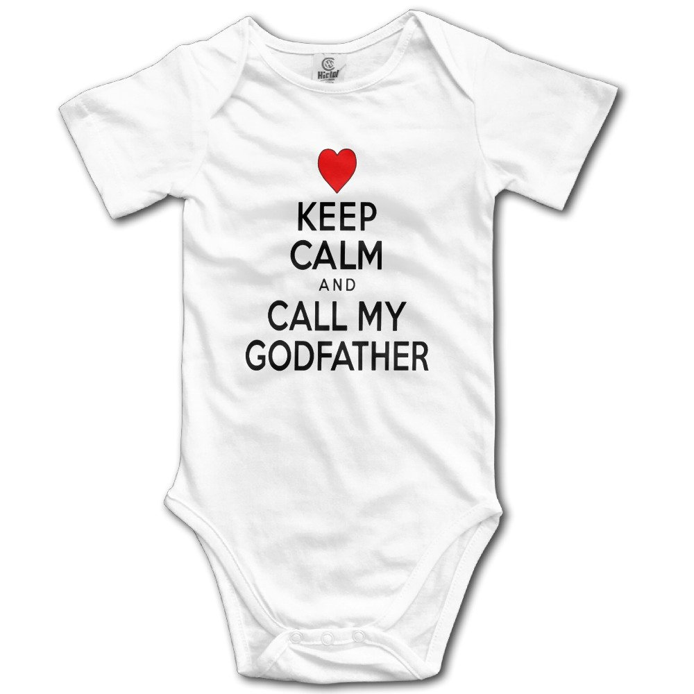 Keep Calm Call Godfather Infant Baby Onesie Clothes Natural Organic