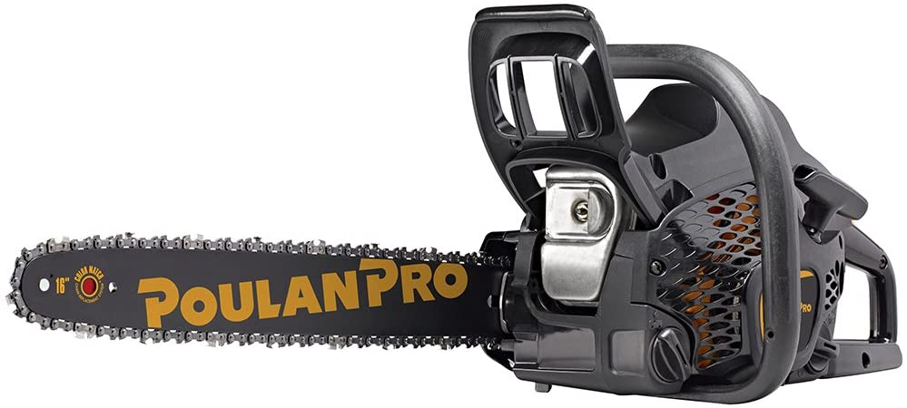 9. Poulan Pro PR4016, 16 in. 40cc 2-Cycle Gas Chainsaw