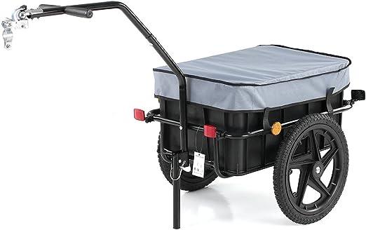 IKAYAA Remolque de Bicicleta para Carga MAX. 50KG 70L Marco de ...