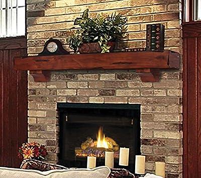Pearl Mantels 412-60-70 Shenandoah Pine Wall Shelf, 60-Inch, Rustic Cherry