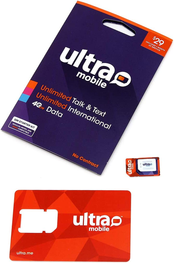 Unlimited Talk and Text 3 in 1 Prepaid Card T-Mobile SIM Kit $19 Ultra Mobile 1GB Rechargable Plan- 4G LTE GSM