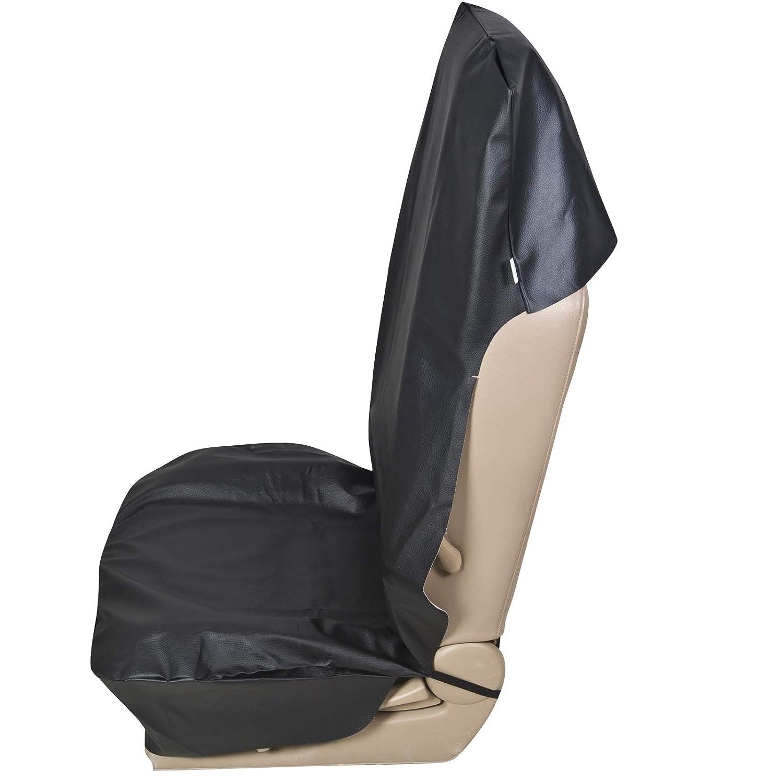 E-starain Sitzauflage Sitzbez/üge Auto schonbezug universal Schonbezug 1x Einzel Sitzbezug aus Kunstleder f/ür PKW,Schwarz