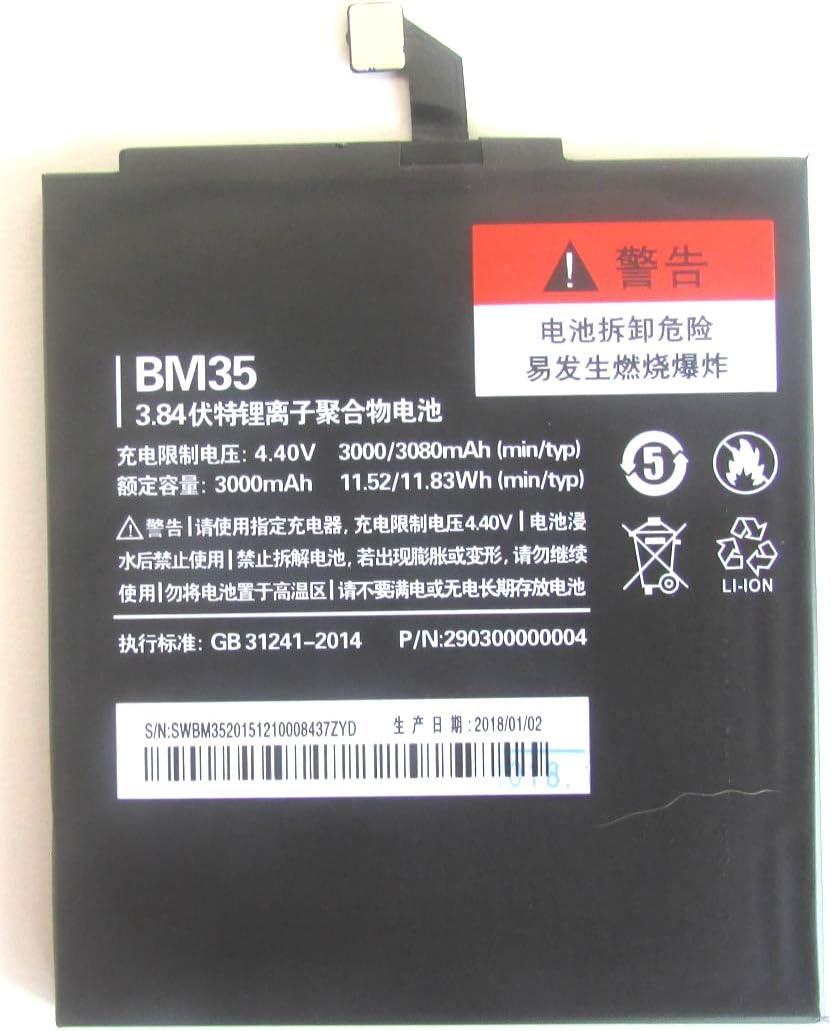 LOTUS Mobile ® Bateria para Xiaomi Mi4C y Mi4C+, Modelo BM35, con 3000 mAh