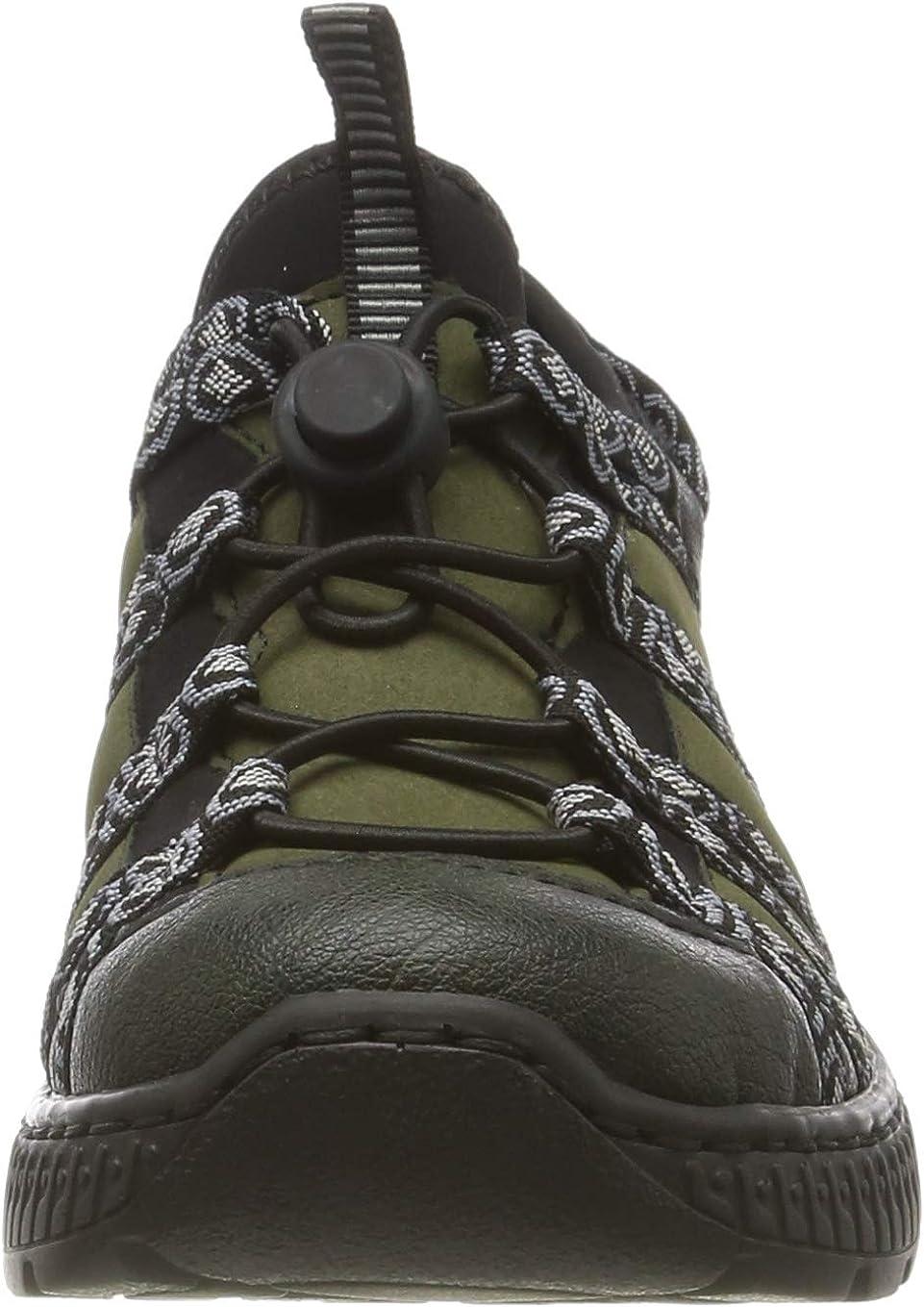Rieker Women's Low-Top Sneakers Green (Tanne/Forest/Schwarz-grau/Schwarz 54)