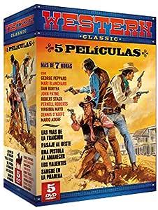 Pack Western Classic: Las Vías de la Traición + Pasaje al Oeste + Una Pistola al Amanecer + Los Valientes + Sangre en la Pradera [DVD]