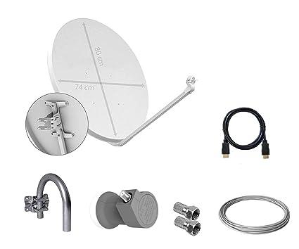 Tecatel - Kit parabólica 100 cm, Soporte, LNB, Cable y Conectores (K80C1LSCC