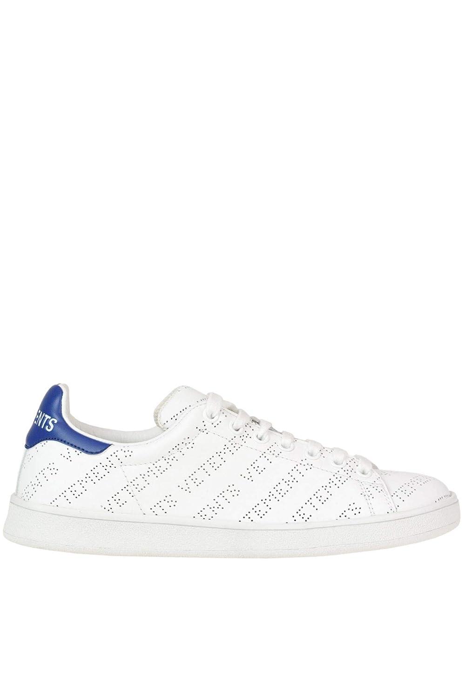 - VETEMENTS Women's MCGLCAK000005012E White Leather Sneakers