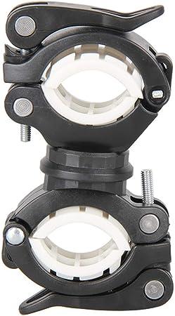 Bycicle Rotating Lights Double Holder Front Flashlight Lamp Pump Handlebar