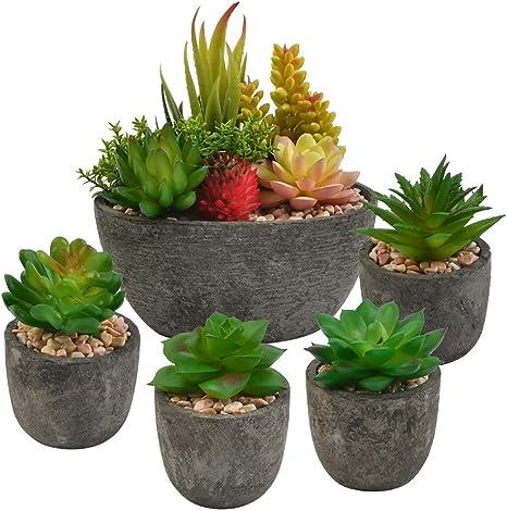 Blätter Künstliche Pflanzen Indoor Sukkulenten Zuhause Büro Garten PVC