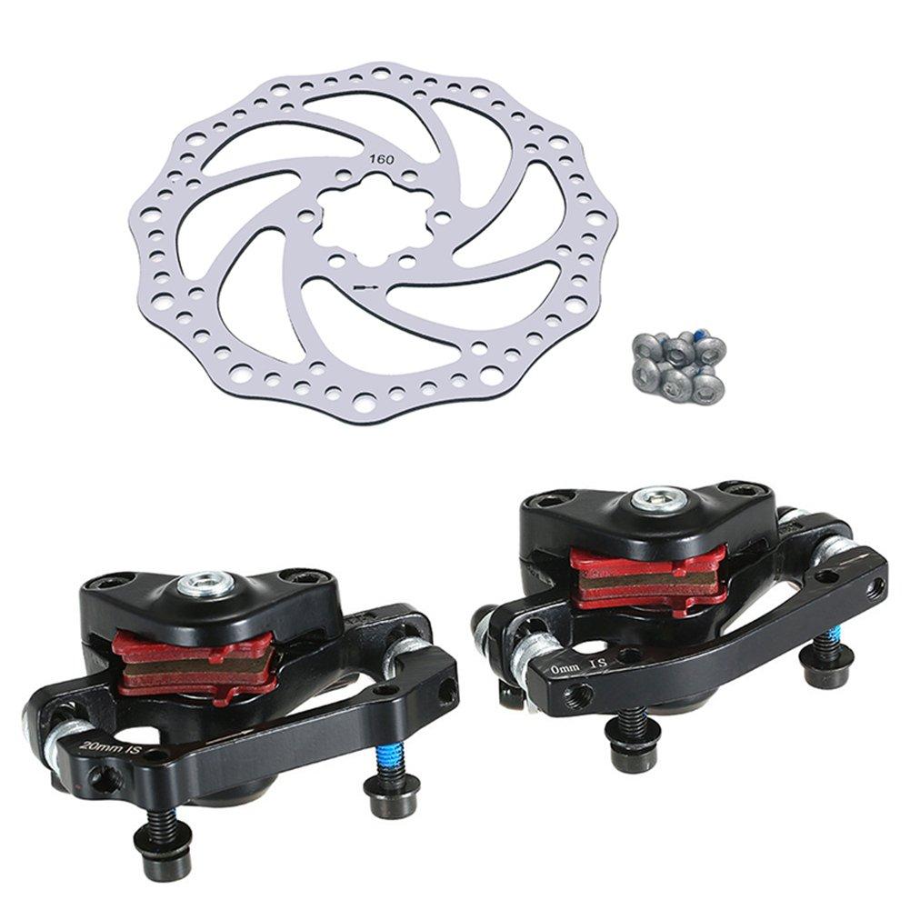 Prom-near Mountainbike 160mm Rotoren Edelstahl Fahrrad Bremsscheiben Fahrrad Zubeh/ör Faltrad Aluminium Maschine Scheibenbremse Set