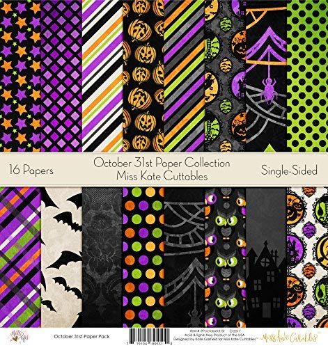 Halloween Scrapbooking Paper (Pattern Paper Pack - October 31st - Scrapbook Specialty Paper Single-Sided 12