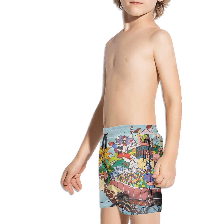 Etstk Tortoise Turtle Lover Kids Quick Dry Shorts for Students