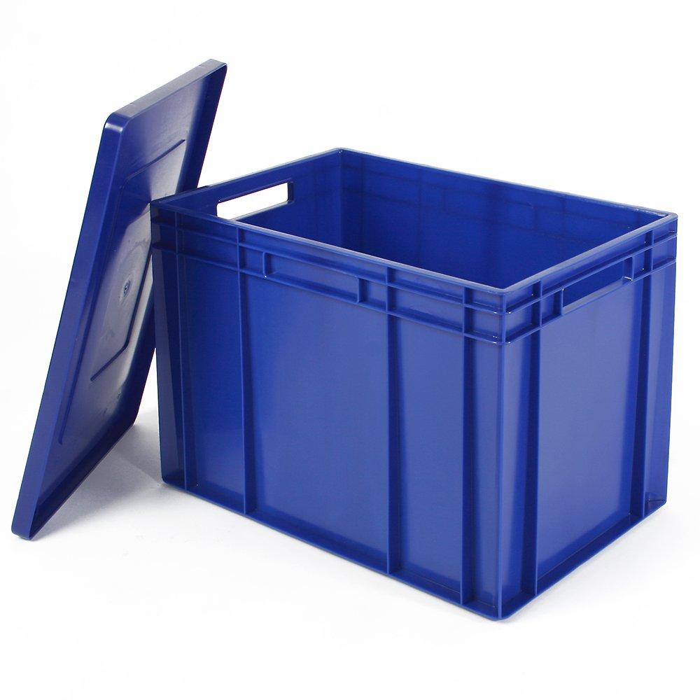 LxBxH 600 x 400 x 220 mm Eurobehälter lebensmittelecht blau 43 Liter
