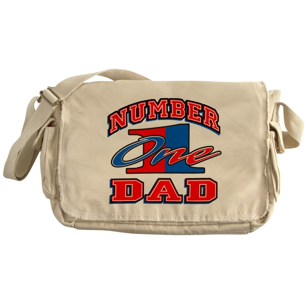 Royal Lion Khaki Messenger Bag Number One Dad Father Fathers Day