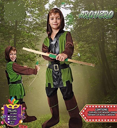 Costumizate! Disfraz de Arquero Talla 5-6 Especial para niños ...