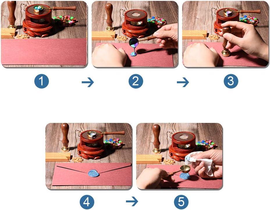 SamYoo Weihnachten Rentier-4 Wachs Siegelstempel Einladungen Vintage Retro Messing Kopf Holzgriff abnehmbare Siegelstempel ideal f/ür die Versch/önerung von Umschl/ägen