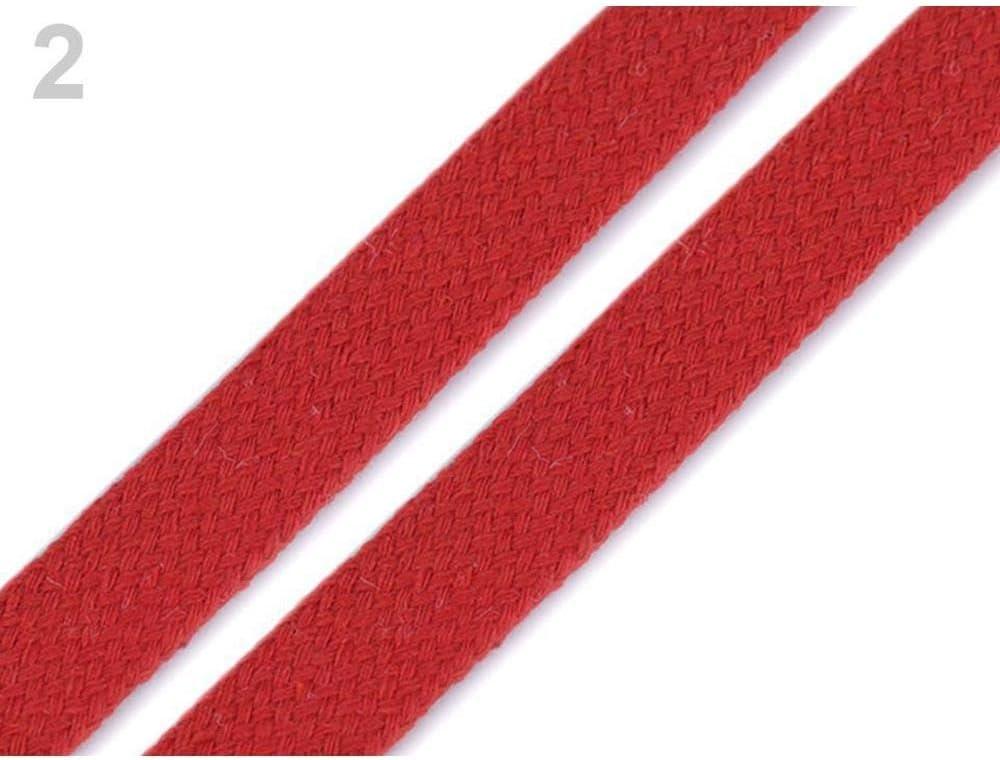 10m Rouge V/êtements Cordon Plat Largeur 15mm Mercerie, Cordons en Coton Et les Cha/înes de caract/ères