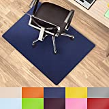 casa pura Office Chair Mat Hard Floor - 30''x48'' | Desk Floor Mats, Dark Blue - BPA Free, Odorless