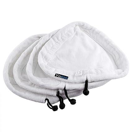 4 toallas de pieza limpiador a vapor Mopa paños fregona Vapor protectora Lavado Bar triangular de