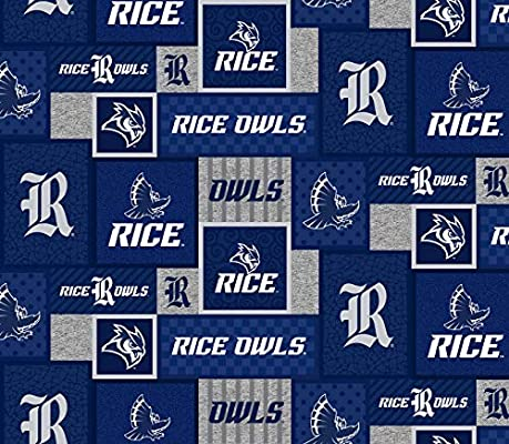 Amazon Com Rice University Fleece Blanket Fabric Rice University Fleece Fabric With New Patch Patttern Sold By The Yard