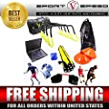 NEW TEAM SPEED AGILITY & QUICKNESS Training Kit with Instructional DVD | High School & College | Football, Soccer, Basketball, Baseball, Supports All Sports | Hurdles, Ladder, Power Resistor, & MORE!