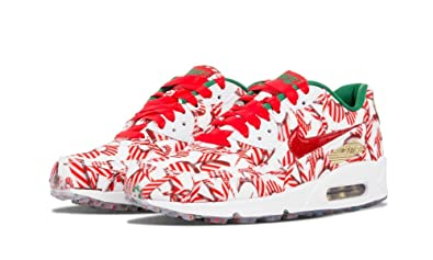 Nike Air Max 90 Qs Christmas White University Red Gold Shoes