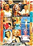 Marilyn Monroe stamps - Beautiful photographs of Marilyn Monroe - Mint and never mounted sheet with 9 stamps